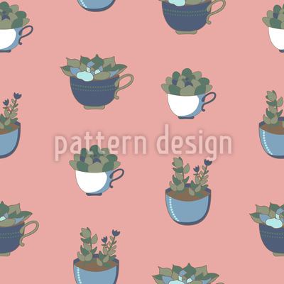 Potted Succulents Pattern Design