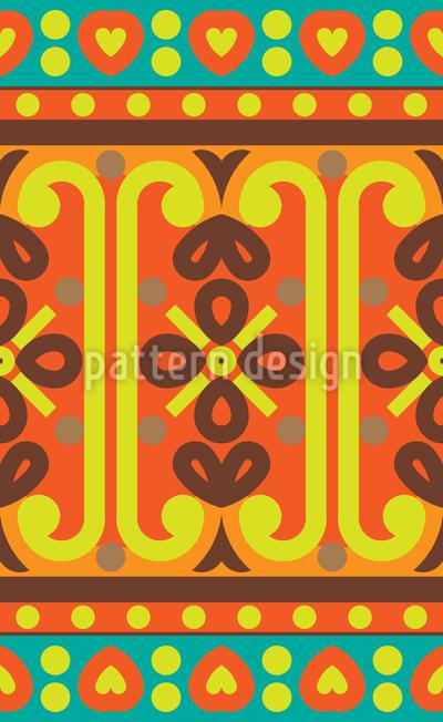 Orientalische Ethno Bordüre Designmuster