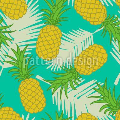 Ananas Tropicana Nahtloses Vektormuster