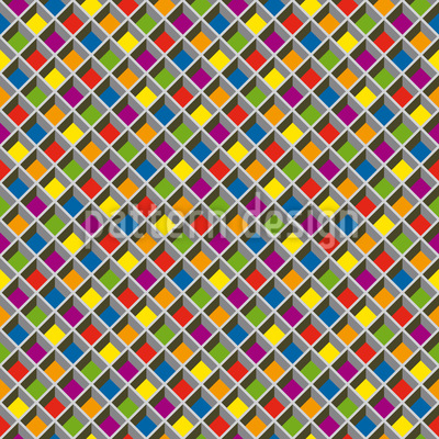 Stained Glass Grid Repeating Pattern