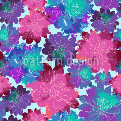 Sea Of Flowers Pattern Design