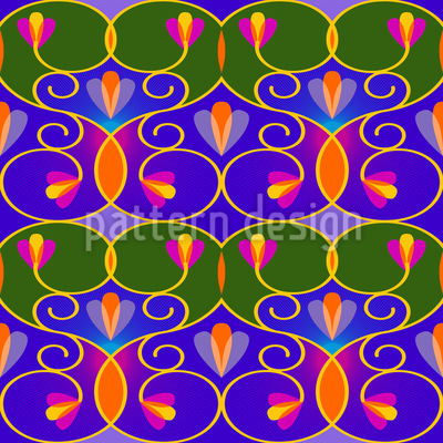 Swirls And Trellis Pattern Design