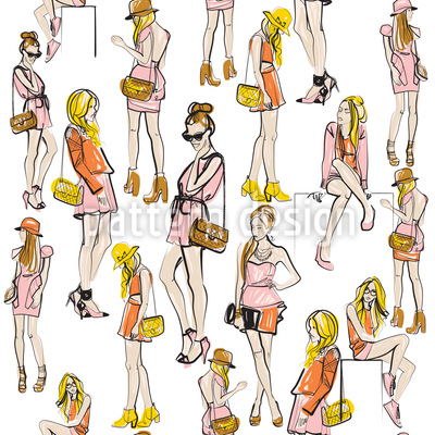Fashionistas Seamless Vector Pattern