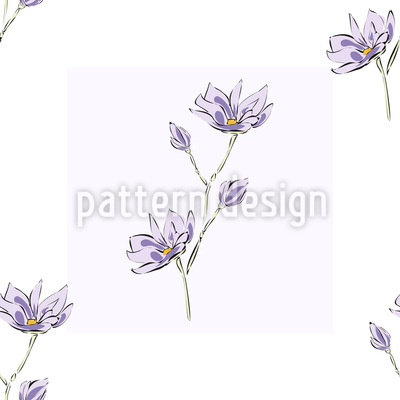 Magnolia Blossom Squares Seamless Vector Pattern Design
