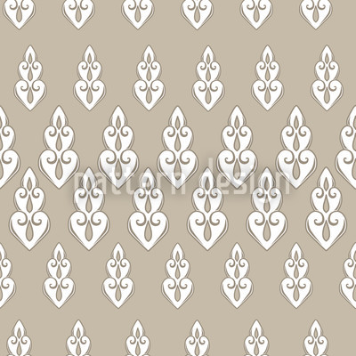 Delilahs Night Beige Seamless Vector Pattern Design