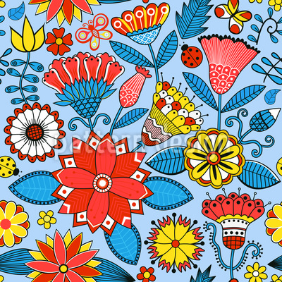 Julias Beautiful Garden Pattern Design