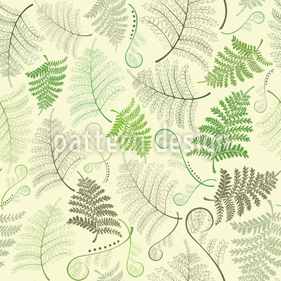 Fern Leaves Vector Pattern