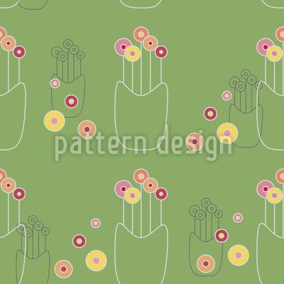 Blumenvase Rapportiertes Design