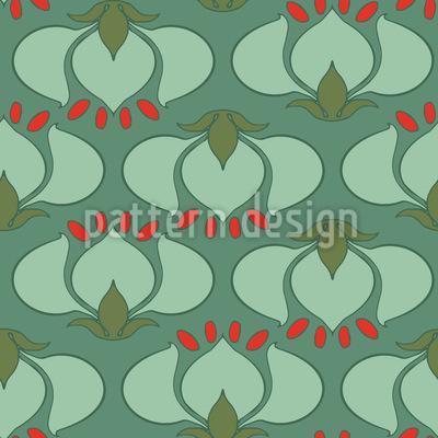 Tulipano Art Nouveau disegni vettoriali senza cuciture