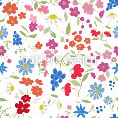 Mein Blumen Mix Nahtloses Vektormuster