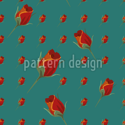 Rosebud Seamless Pattern