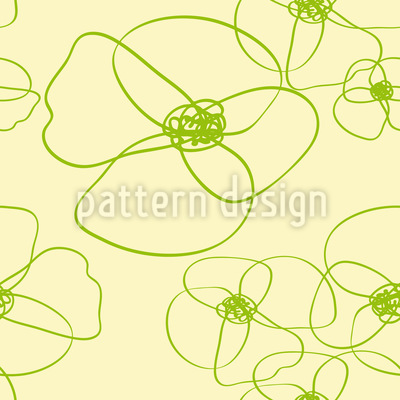 Poppy Scribble Pattern Design