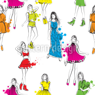 Fashion Victim Vector Ornament