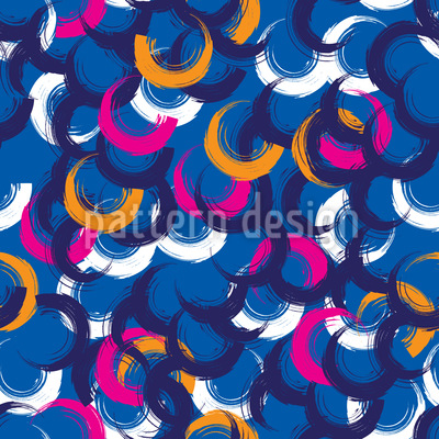 Scattered Painted Circles Seamless Pattern