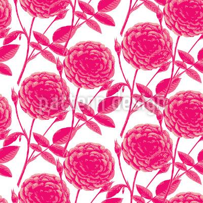 Roses In Full Bloom Repeat Pattern