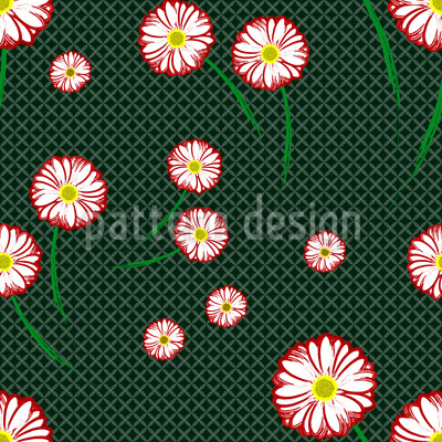 Gerbera Blossoms Pattern Design