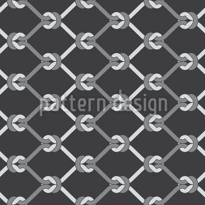 Fishing Net Seamless Vector Pattern Design