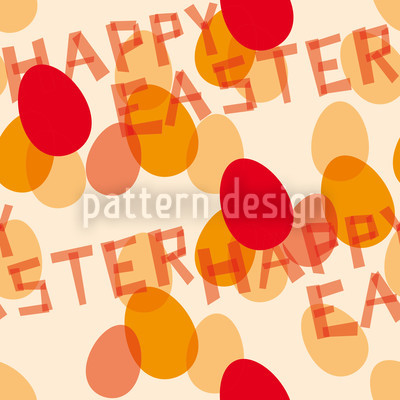 Frohe Ostern Rot Designmuster