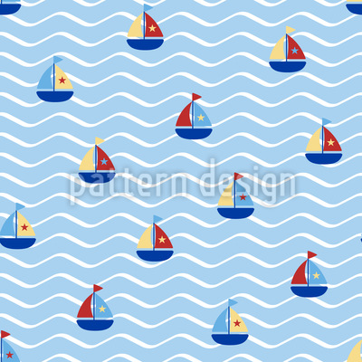 Tiny Sails Seamless Pattern