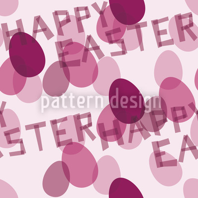Happy Easter Lavender Vector Ornament