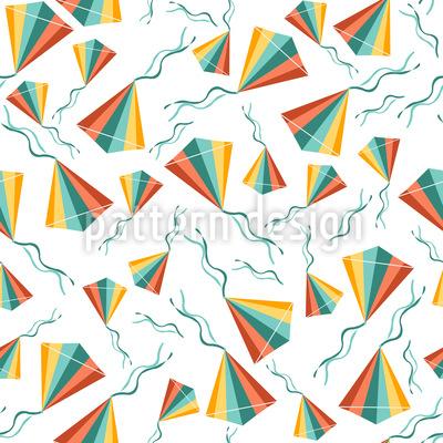 Kites Seamless Pattern