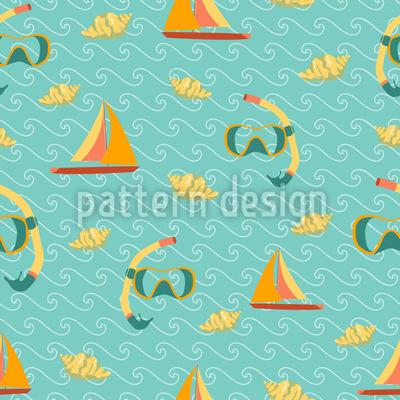 Ocean Fun Seamless Vector Pattern