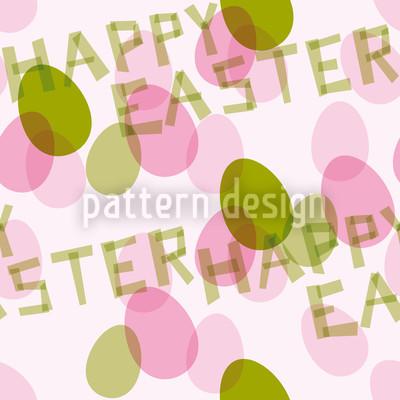 幸せなイースターの願い シームレスなベクトルパターン設計