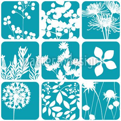 Blumen Zum Quadrat Musterdesign