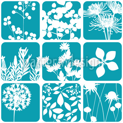 Flowers To The Square Pattern Design