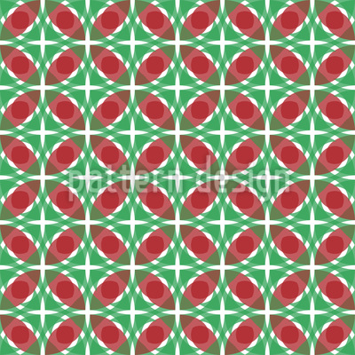 Rhomb And Circle Seamless Pattern