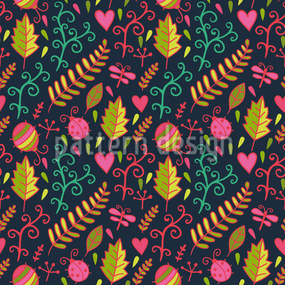 Crawling On The Forest Floor Seamless Pattern