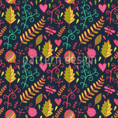 Krabbeln Auf Dem Waldboden Nahtloses Muster