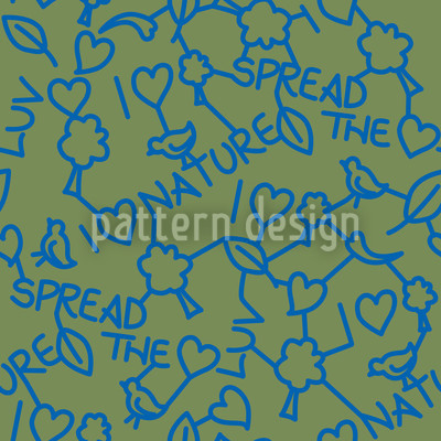 I Love Nature Rapportiertes Design