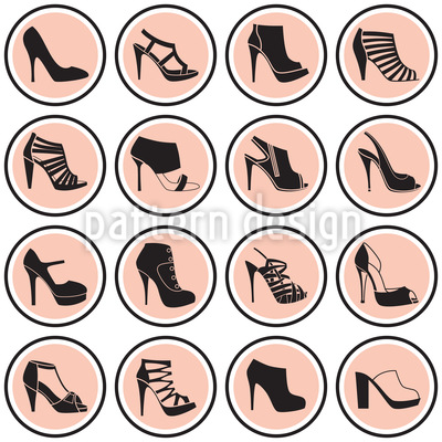 Mod High Heels Vector Ornament