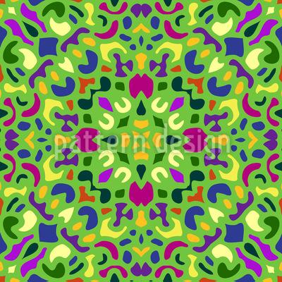 Mosaico Oriental Design de padrão vetorial sem costura
