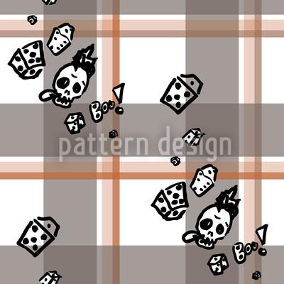 Karo Mit Totenkopf Musterdesign