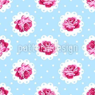 Rose Vintage Motif Vectoriel Sans Couture