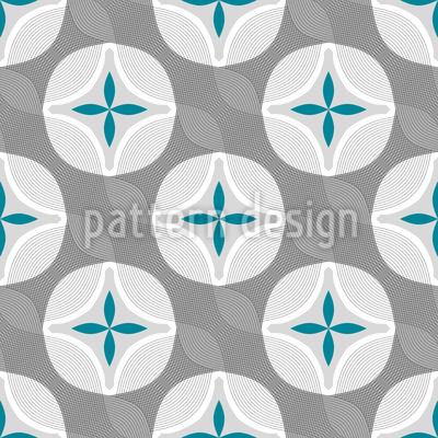 Blumen Welle Vektor Muster