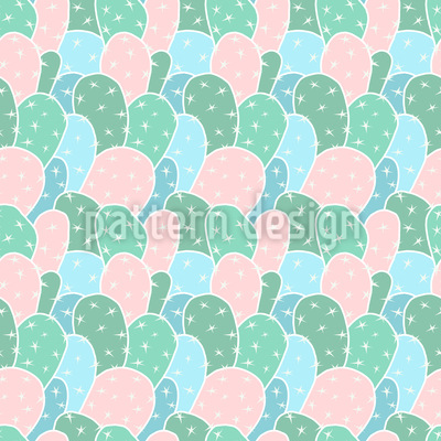 Cacti Everywhere Repeating Pattern