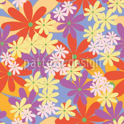 The Power Of Flowers Seamless Vector Pattern Design