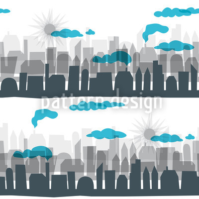 Skyline Seamless Vector Pattern