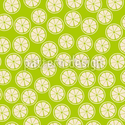 Zitronen Scheiben Nahtloses Vektormuster
