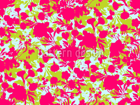 Cut Out Flora Seamless Vector Pattern