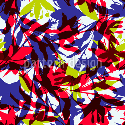 Tropical Thicket Vector Pattern