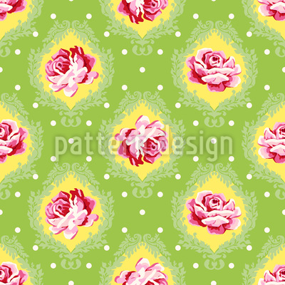Rose Damask Repeating Pattern