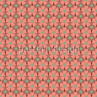 Autumn Blossoms Seamless Vector Pattern Design
