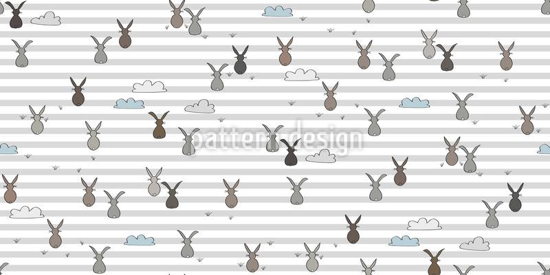 Schlafende Hasen Vektor Muster