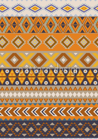 Earthy Ethno Stripes Pattern Design