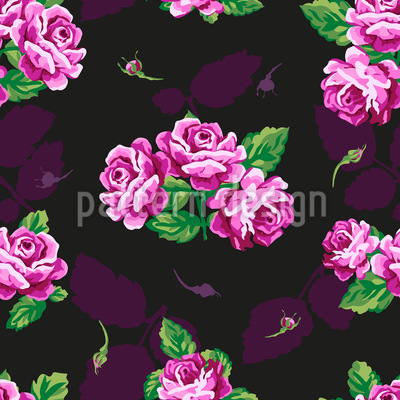 Nostalgic Rose Bouquet Seamless Vector Pattern