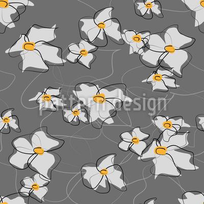 Gezeichnete Blüten Nahtloses Vektormuster